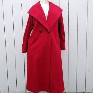 Worthington Wool Blend Full Length Hooded Coat